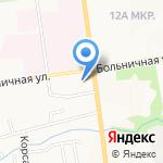 Кыстау на карте Южно-Сахалинска