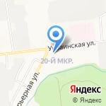 Эдлен на карте Южно-Сахалинска