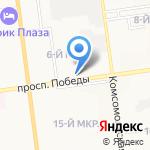 Нихон Митай на карте Южно-Сахалинска