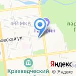 ХОСКА на карте Южно-Сахалинска
