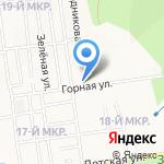На горке на карте Южно-Сахалинска