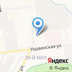 Символ Плюс на карте Южно-Сахалинска
