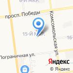 Средняя общеобразовательная школа №8 на карте Южно-Сахалинска