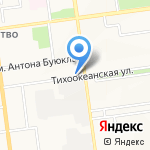 Киоск по продаже хлебобулочных изделий на карте Южно-Сахалинска