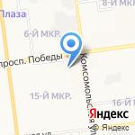 Аленка на карте Южно-Сахалинска
