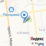 Начальная школа №21 на карте Южно-Сахалинска