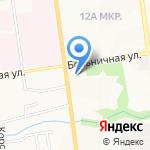 Храм Святителя Николая на карте Южно-Сахалинска