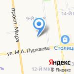 София на карте Южно-Сахалинска