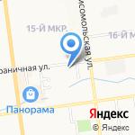 Добровольное общество содействия армии на карте Южно-Сахалинска