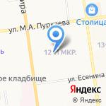 Акварель на карте Южно-Сахалинска