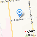Айкрафт на карте Южно-Сахалинска