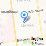 Веснушка на карте Южно-Сахалинска