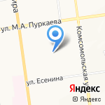 ЖЭУ-10 на карте Южно-Сахалинска