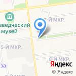 У Луча на карте Южно-Сахалинска