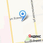 Обжорка на карте Южно-Сахалинска