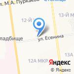 Росток на карте Южно-Сахалинска