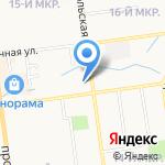 Городская поликлиника №4 на карте Южно-Сахалинска