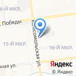 Лада на карте Южно-Сахалинска