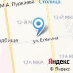 Бонсай на карте Южно-Сахалинска