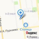 Ксюша на карте Южно-Сахалинска