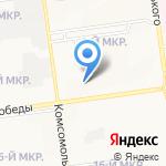 Универсальный на карте Южно-Сахалинска