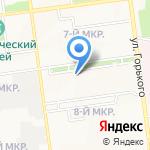 Ромашка на карте Южно-Сахалинска