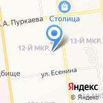 Средняя общеобразовательная школа №26 на карте Южно-Сахалинска