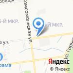 Мишель на карте Южно-Сахалинска