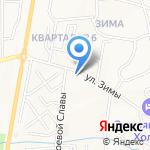 Истукан на карте Южно-Сахалинска