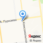 Катана на карте Южно-Сахалинска