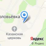 Соловьевка на карте Южно-Сахалинска