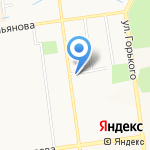 У Аиста на карте Южно-Сахалинска
