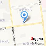 Вларен на карте Южно-Сахалинска