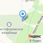 Кладбищенский комплекс №3 на карте Южно-Сахалинска