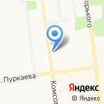 8 Марта на карте Южно-Сахалинска