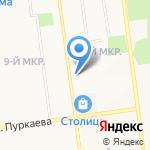 Телерадиомастерская на карте Южно-Сахалинска