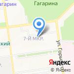 ЖЭУ-1 на карте Южно-Сахалинска