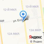 Аверс на карте Южно-Сахалинска