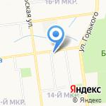 Семёрочка на карте Южно-Сахалинска