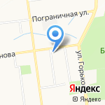 Аэлита на карте Южно-Сахалинска