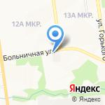 Калипсо на карте Южно-Сахалинска