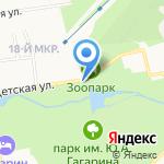 Городской парк культуры и отдыха им. Ю.А. Гагарина на карте Южно-Сахалинска