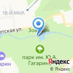 Дальневосточная детская железная дорога на карте Южно-Сахалинска