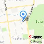 Фаворит на карте Южно-Сахалинска
