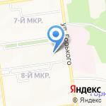 Рабочий-1 на карте Южно-Сахалинска