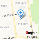 Свободное-2001 на карте Южно-Сахалинска