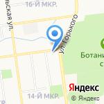 Книжный квартал на карте Южно-Сахалинска