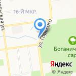 Автогвар на карте Южно-Сахалинска