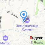 Продуктовый магазин на Земляничных холмах на карте Южно-Сахалинска