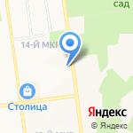 Санитарный сервис на карте Южно-Сахалинска
